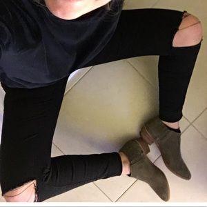 Zara ripped knee black jeans
